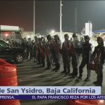 Soldados armados resguardan garita San Ysidro, cierran paso para autos y peatones