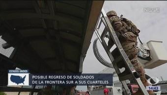 Soldados de EU, desplegados en frontera, regresarán a cuarteles
