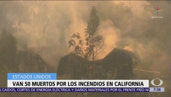Suman 50 muertos por los incendios forestales en California