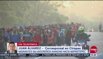 Tercera caravana migrante avanza a Mapastepec, Chiapas