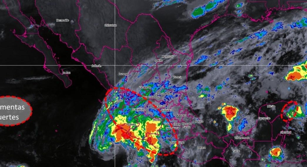 Xavier provocará lluvias en occidente y sur de México