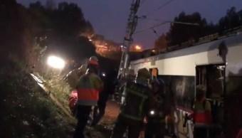 Descarrila tren en Barcelona; hay un muerto y varios heridos
