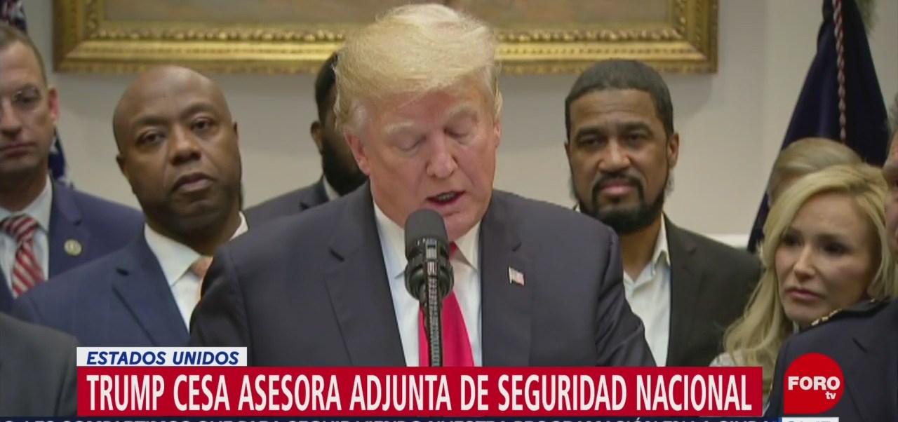 Trump Despide Asesora Seguridad Nacional