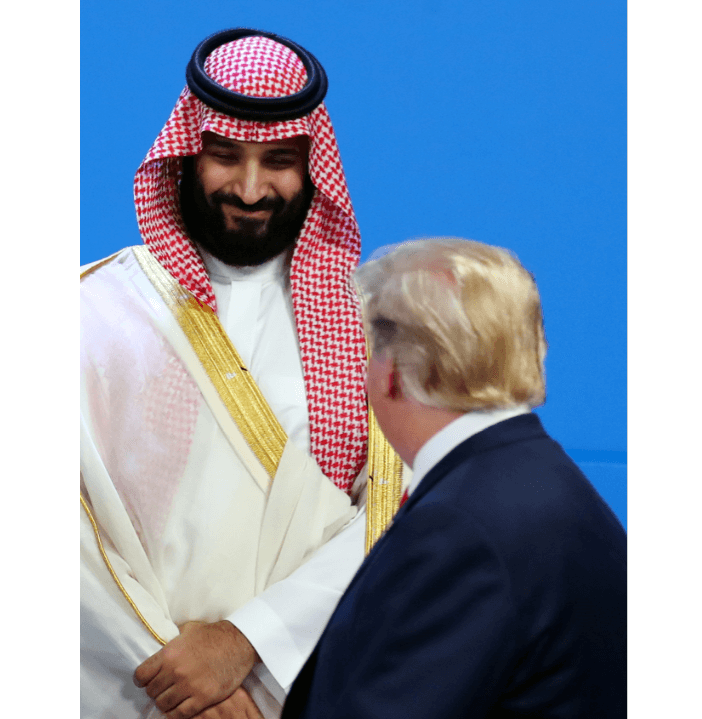 Trump saluda al príncipe saudita, tras caso Khashoggi