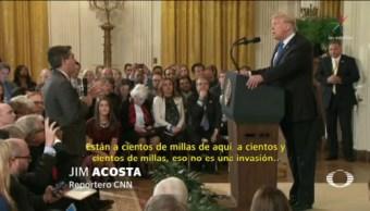 Trump Enfrenta Periodistas Durante Conferencia Prensa