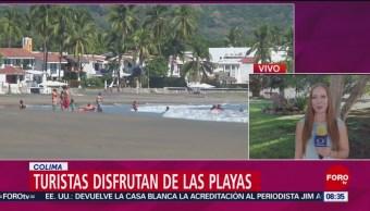 Turistas Escapan Del Frío Playas De Colima Cientos De Turistas Colima Temperaturas Cálidas El Último Fin De Semana Largo