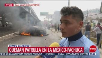 Vecino de San Juan Ixhuatepec ayuda a Policía de agresiones en bloqueo