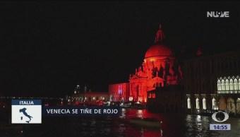 Venecia se tiñe de rojo para recordar a cristianos perseguidos