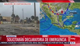 Vientos dañan estructura del malecón de Coatzacoalcos