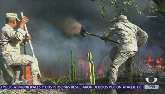 Vientos de Santa Ana alimentan incendios en Tijuana, hay 4 heridos
