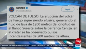 Volcán de Fuego hace erupción en Guatemala