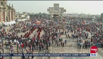 Miles de peregrinos visitan la Basílica de Guadalupe