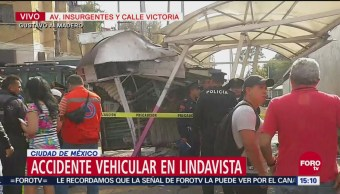 Accidente vehicular en Lindavista, CDMX
