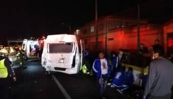 Accidentes México-Cuernavaca dejan 12 peregrinos lesionados