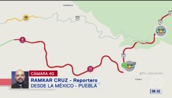 Afectaciones viales por obras en la México-Puebla