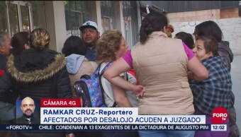 Afectados por desalojo en Arcos de Belén acuden a juzgado