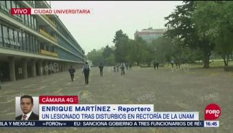 """Agresores en manifestación de la UNAM huyen hacia """"las islas"""""""