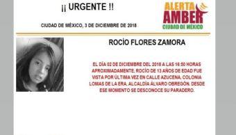 Alerta Amber para localizar a Rocío Flores