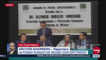 Alfonso Durazo se reúne con diputados