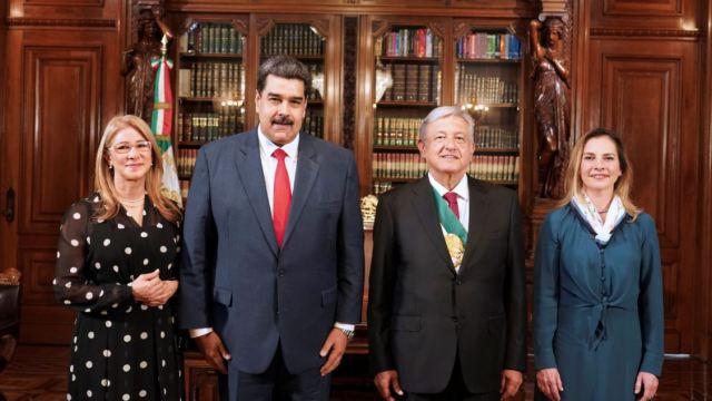 AMLO recibe a jefes de Estado en Palacio Nacional