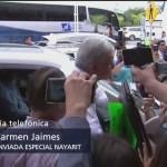 "AMLO recorre zonas afectadas por ""Willa"" en Nayarit"