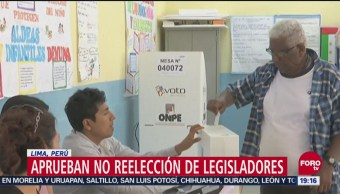 Aprueban no reelección de legisladores en Lima, Perú