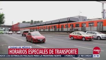 Horarios Especiales Transporte Cdmx Fin De Año