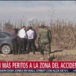 Arriban Peritos Zona Accidente Aéreo Puebla