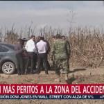 Arriban Peritos Zona Accidente Aéreo Puebla