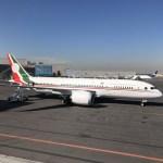 Avión presidencial realiza vuelo hacia California