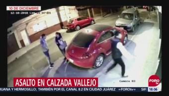 Captan asalto en Calzada Vallejo, CDMX