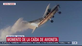 Momento En Que Avioneta Se Desploma Culiacán