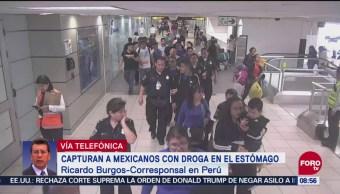 Capturan A Mexicanos Con Droga En El Estómago En Perú, Mexicanos Con Droga En El Estómago, Perú, Diez Mexicanos, Policía Nacional De Perú, Aeropuerto Internacional Jorge Chávez, Droga En El Estomago