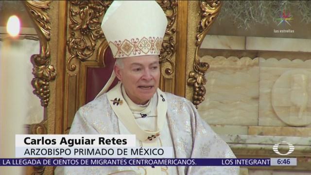 Cardenal Aguiar Retes oficia la misa de Navidad