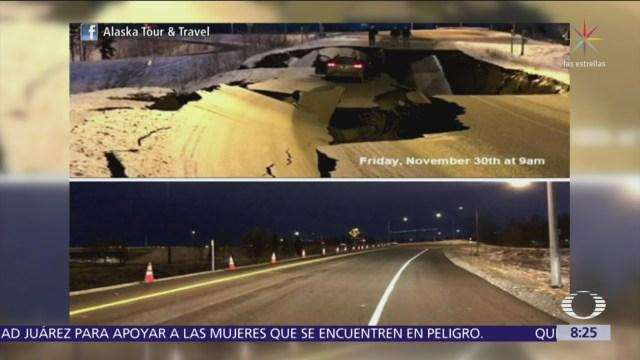 Carreteras de Alaska son completamente reparadas tras sismo de magnitud 7
