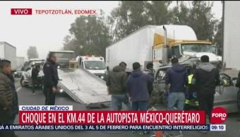 Choque deja un muerto en la autopista México-Querétaro