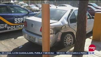Choque en Circuito Interior deja 2 lesionados en la CDMX