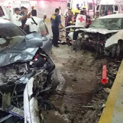 Choque deja un muerto y tres heridos en Macrotúnel de Acapulco, Guerrero