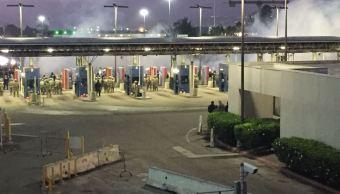 EU cierra frontera con México para ejercicio de seguridad