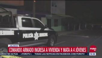 Comando armado mata a 4 jóvenes en Jalisco
