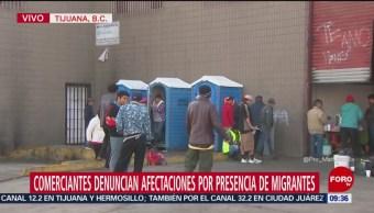 Comerciantes denuncian afectaciones por presencia de migrantes en Tijuana