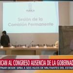 Congreso de Puebla notificará ausencia definitiva de Érika Alonso