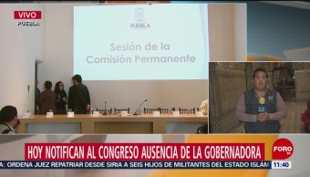 Congreso de Puebla notificará ausencia definitiva de Érika Alonso