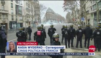 Continúa La Crisis Política En Francia, Crisis Política, Francia, Corresponsal, Kasia Wyderko, Chalecos Amarillos, Protestas