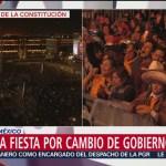 Continua la fiesta en el Zócalo Capitalino por el cambio de gobierno