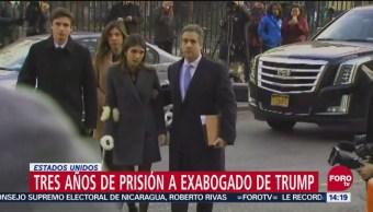 Dan tres años de prisión a exabogado de Trump