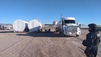 Policía Federal decomisa cerca de 800 mil litros de combustible en Chihuahua