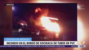 Desalojan a 400 personas por incendio en Nezahualcóyotl