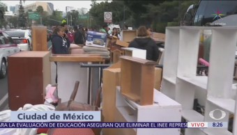 Desalojo de edificio en Arcos de Belén, CDMX