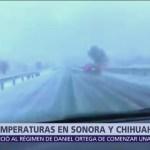 Primera nevada de la temporada en Sonora